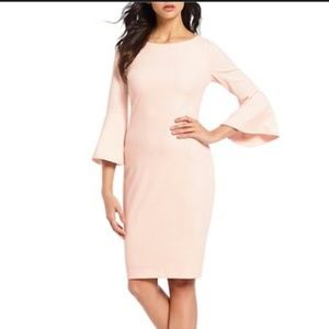 NWT Calvin Klein Peach Bell Sleeve Dress Size 2